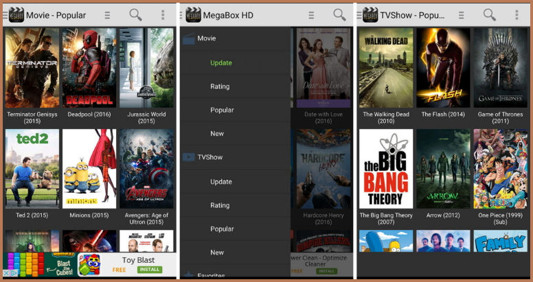 Megabox HD for Android download